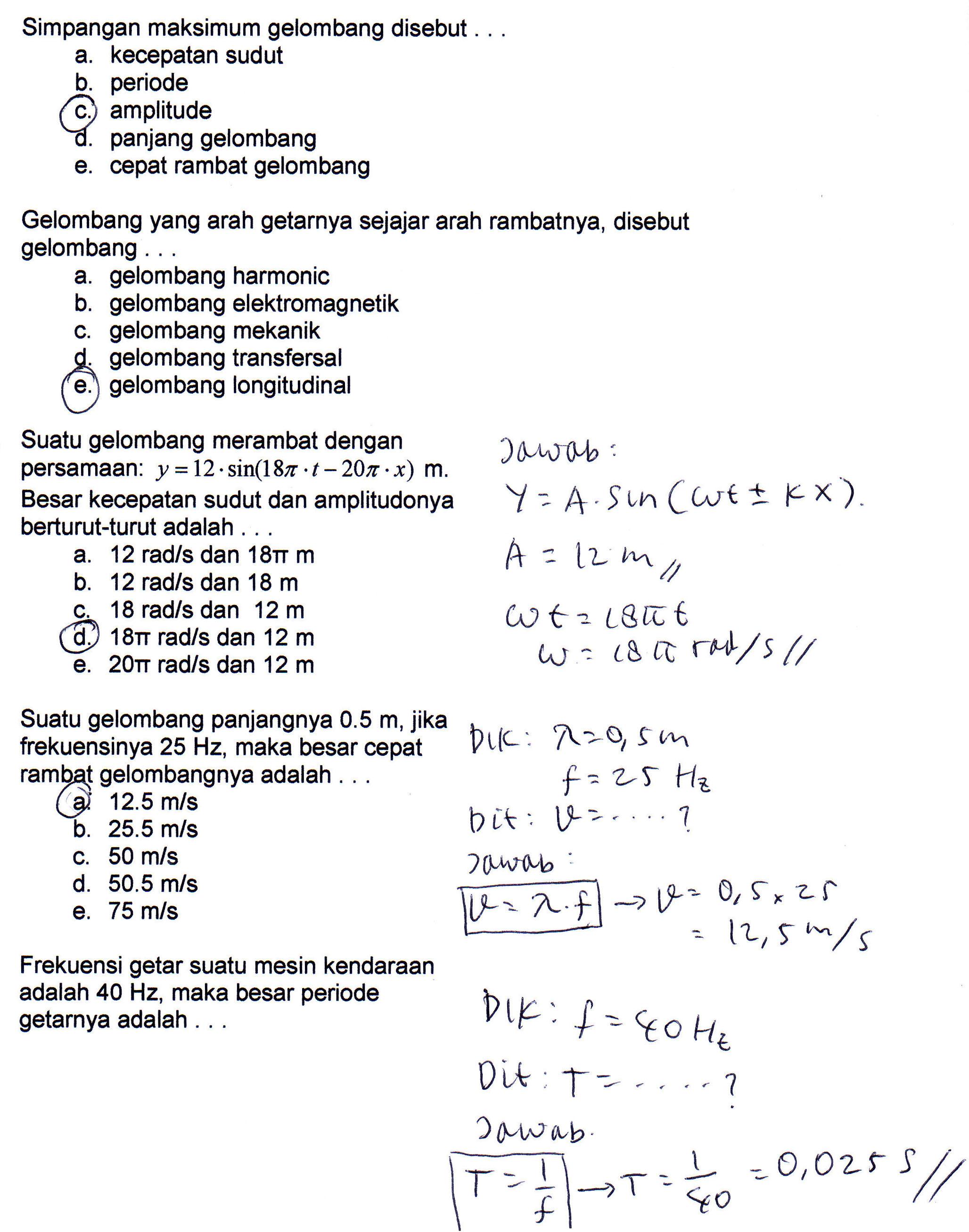 Penyelesaian Soal Latihan Ulangan Blok 1 Kelas Xii Infoku