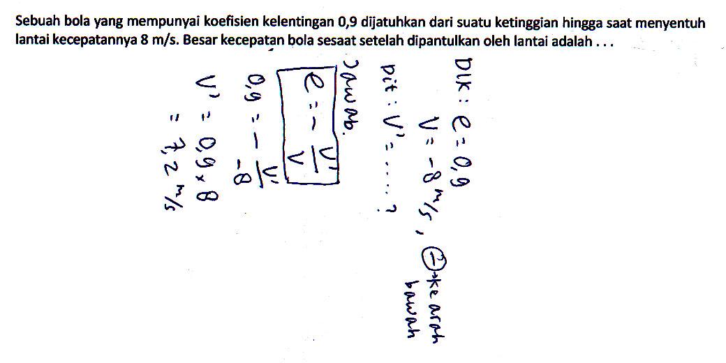 Contoh Penyelesaian Soal Fisika Kelas 11 Blok 2 Infoku